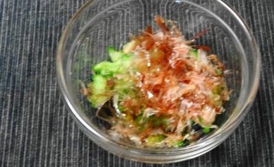 ゴーヤの酢の藻