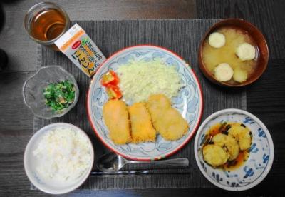 鶏胸肉の和風カツ定食