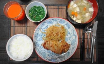 鶏モモの山椒焼き けんちん汁御膳