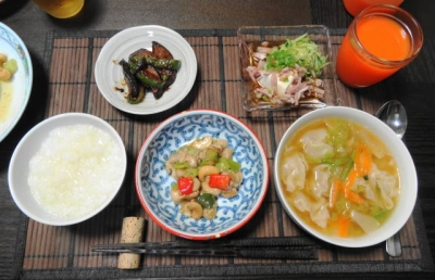 鶏のカシューナッツ炒め 中華粥御膳