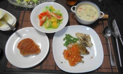 アジの香草焼き 誕生日ディナー
