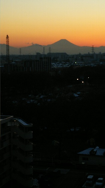 夕焼け富士a