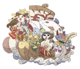 キグルミ【船】_ラフ01