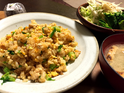 Mar30_鶏とキムチの炒飯