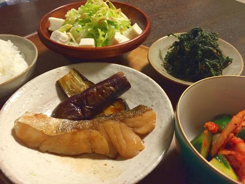 May24_タラと茄子煮