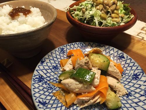 Jun02_鶏ささみと野菜炒め
