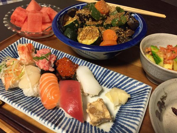 Jly14_焼き野菜の胡麻だれ