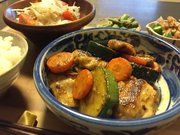 Jly20_鶏と野菜のカレー風味炒め