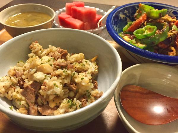 Aug18_牛肉の炒飯