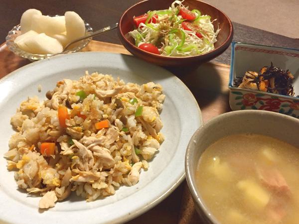 Aug19_鶏ささみの炒飯