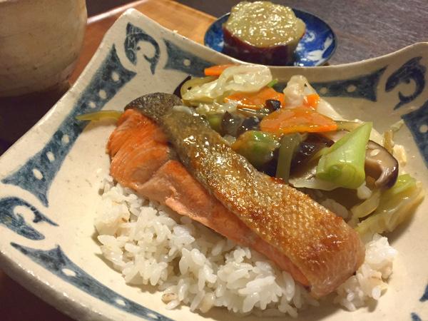 Sep09_鮭の野菜あんかけ丼
