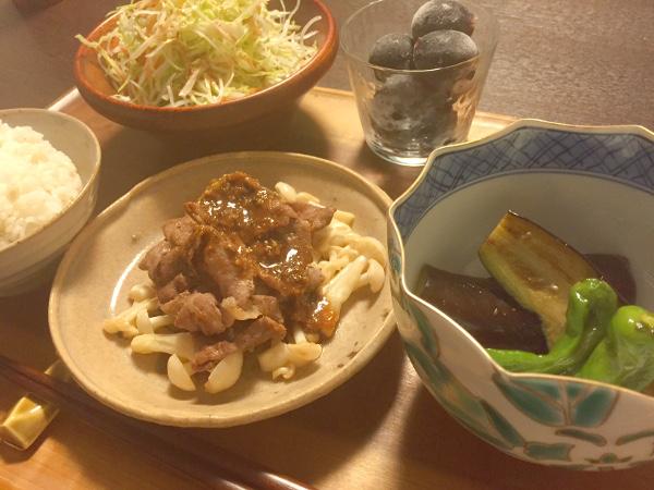 Sep13_牛肉ときのこ焼き