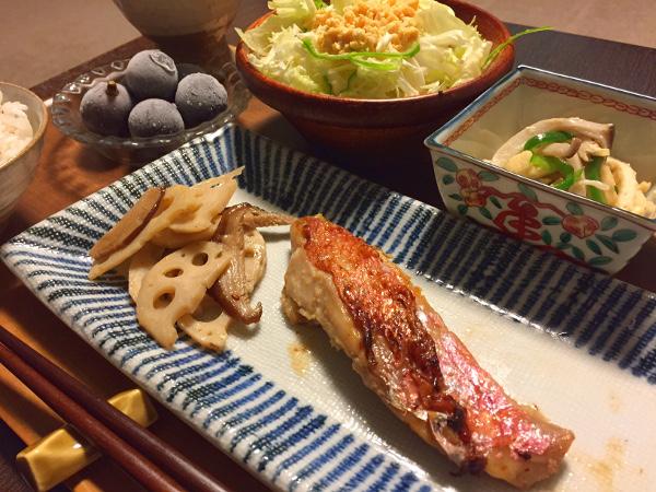 Sep27_金目鯛の粕漬焼き