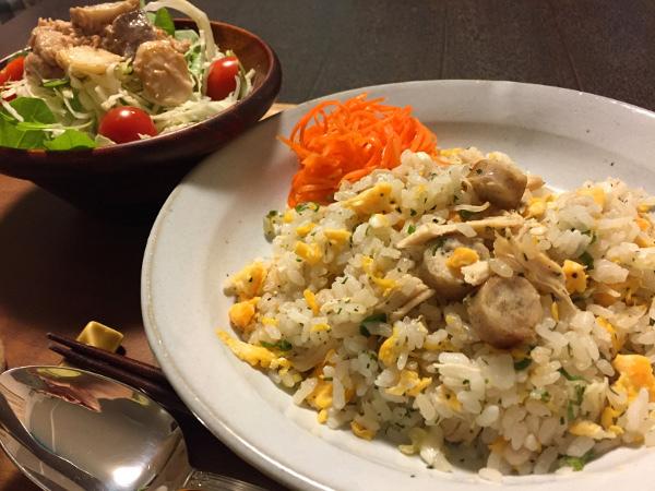 Oct19_鶏と長葱のさっぱり炒飯
