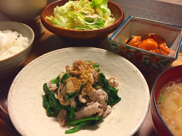 Nov29_豚肉とほうれん草の胡麻ダレ