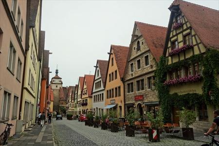 ローテンブルクの古い街並み_R