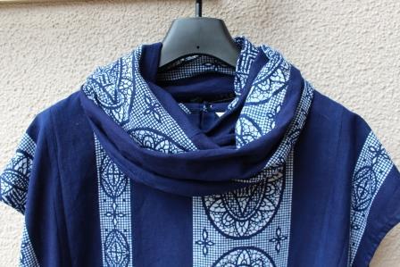 スヌード藍染浴衣