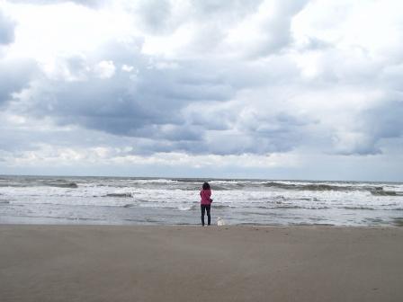 海を眺める