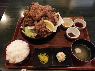 160218媛故郷味の旅せんざんぎ定食がっつり700円