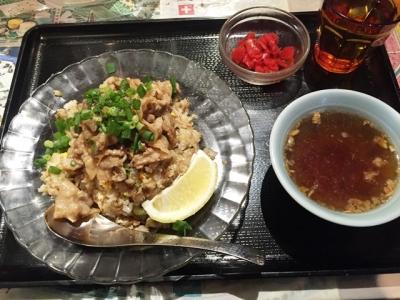 160222チャーハン専門店炒飯の万博万博肉焼炒飯680円