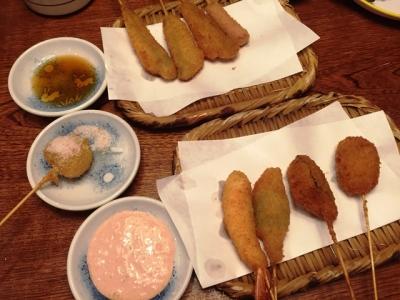 160301串八槙島店串カツ追加はグラニュー糖かかったいちご大福