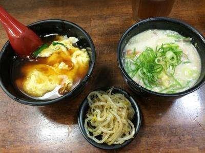 160313十八番天五店朝丼セット300円かす汁変更で350円