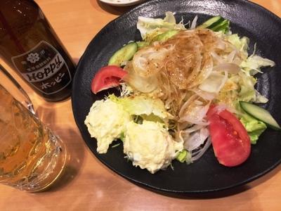 160314テング酒場名古屋栄店ポテトと野菜の大盛りサラダ421円