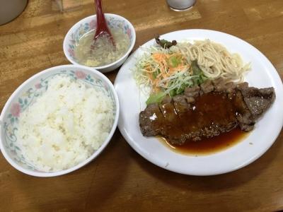160418十八番本店サーロインステーキ定食500円