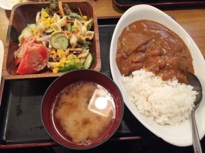 160506木曽路昼定食680円カレーライスとサラダバー
