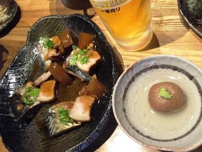 160521天佑1周年イベント煮サバ、豚の角煮、蓮根饅頭