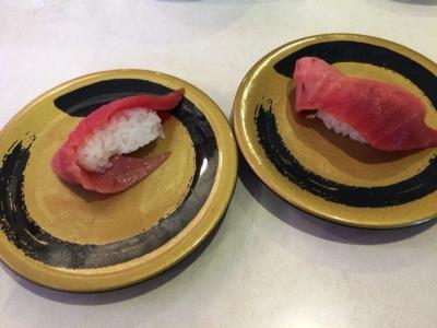 160529はま寿司都島本通店中とろ1貫150円