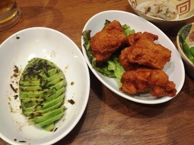 160531鶏のさんぽ茶屋町店アボカド、タンドリーチキン