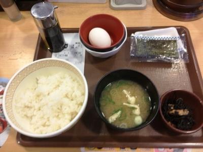 160614すき家茶屋町店たまごかけごはん朝食220円