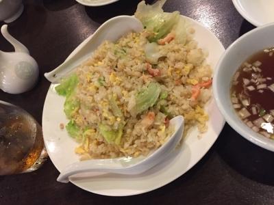 160627大陸カニ・レタスチャーハン850円スープ