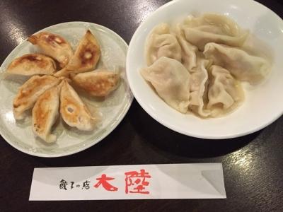 160627大陸焼餃子と水餃子各490円