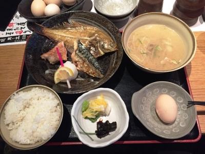 160705磯一西梅田焼魚定食850円