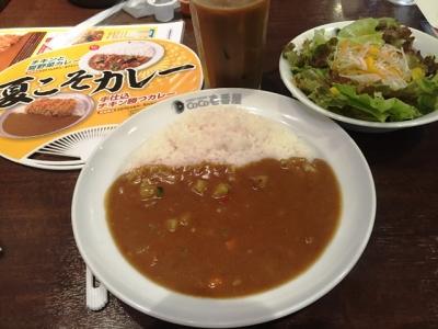 160714CoCo壱番屋北区太融寺店朝カレー401円野菜たっぷりカレー