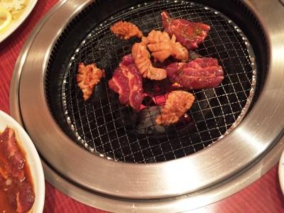 160714焼肉ポパイいろいろ焼いてます