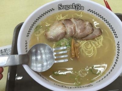 160808スガキヤ堅田イズミヤ店肉入りラーメン400円