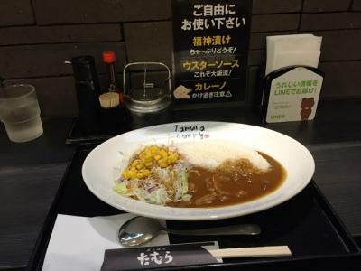 160816炭火焼肉たむらのお肉が入ったカレー屋さん新大阪店モーニング500円