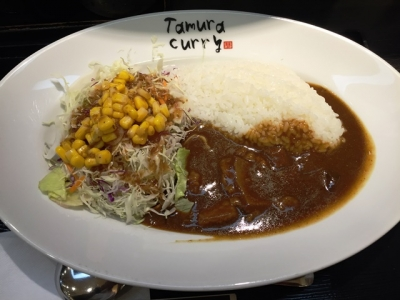 160816炭火焼肉たむらのお肉が入ったカレー屋さん新大阪店モーニング500円サラダ合盛り