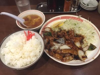 160914一楽豚焼肉定食810円