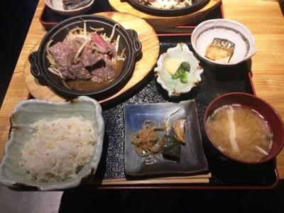 160916天佑日替わり牛ステーキ定食700円