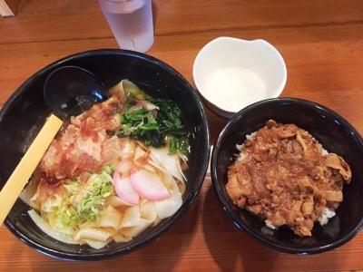 160921めんつるびCランチ豚丼とうどん600円きしめん変更_100円