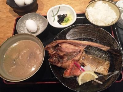 161026磯一西梅田店焼魚定食850円