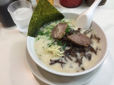 161031博多天神新橋1号店ラーメン500円