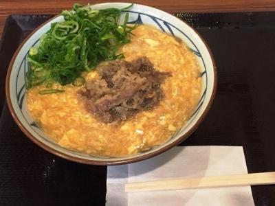 161107丸亀製麺泉佐野店肉たまあんかけ大690円が半額の大340円