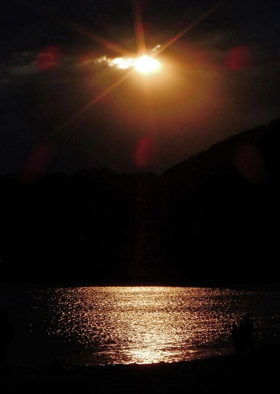 160429逗子海岸夕照4