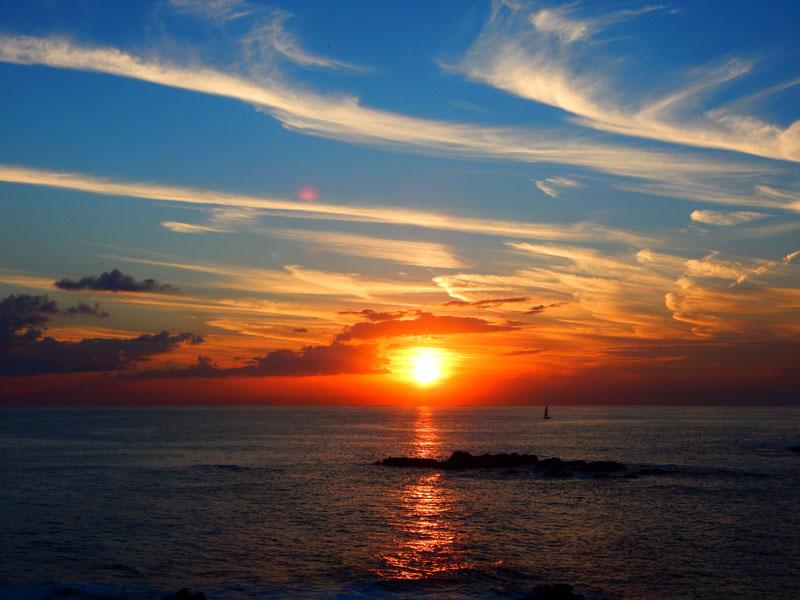 161016城ヶ島のススキと落陽9