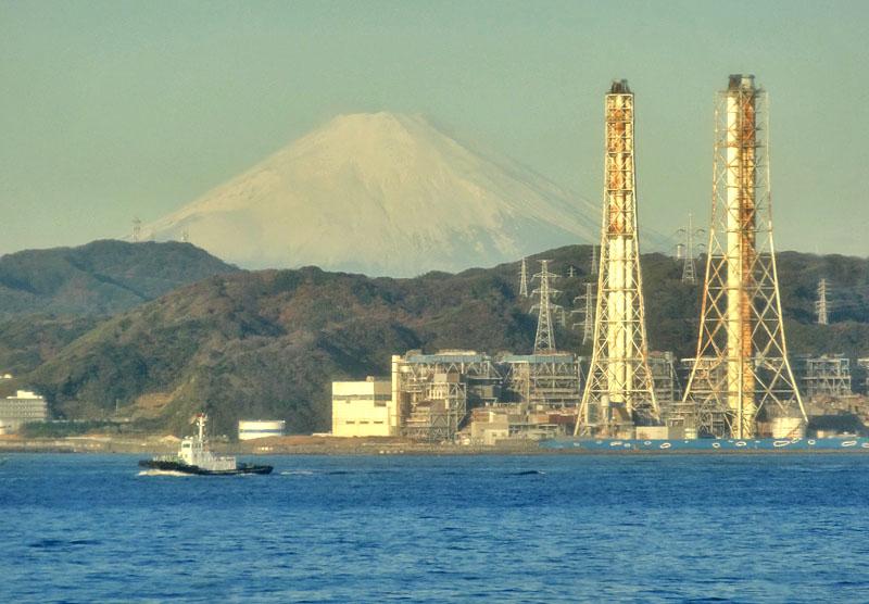 161217東京湾フェリーからの朝富士3